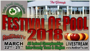 Irish Festival of Pool 2018 promo